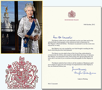 A personal Royal Thank You Letter