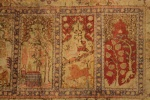 Old silk Qaisari rug