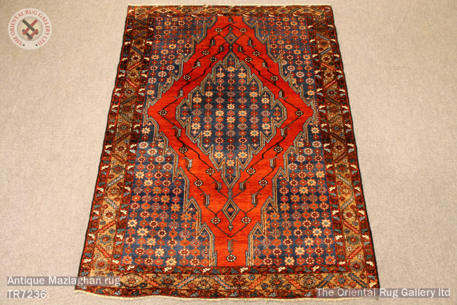 Antique Mazlaghan rug