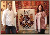 THE UK'S FIRST-EVER HAND-WOVEN COAT OF ARMS RUG WEAVING! (2008 – ongoing)