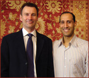 Anas with Rt Hon Jeremy Hunt MP at The Oriental Rug Gallery Ltd, Haslemere, Surrey GU27.jpg