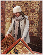 Sandre Blake, The Oriental Rug Gallery Ltd's Decorative Arts Creative Director sourcing weavings.jpg