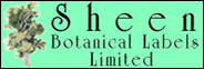 SHEEN BOTANICAL LABELS