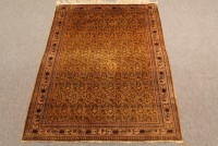 Old silk Qom rug