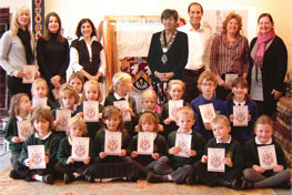Mayor Launch of Schools In Stitches at The Oriental Rug Gallery