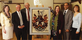 Mayor Melanie, lHaslemere Museum with The Oriental Rug Gallery