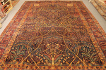 Antique Yazd carpet
