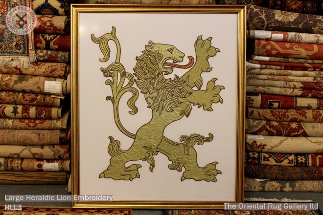 Large Heraldic Lion Embroidery