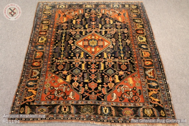 Antique Kashkuli rug