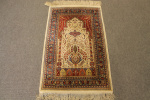 Antique silk Hereke rug