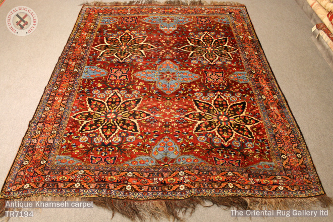 Antique Khamseh carpet