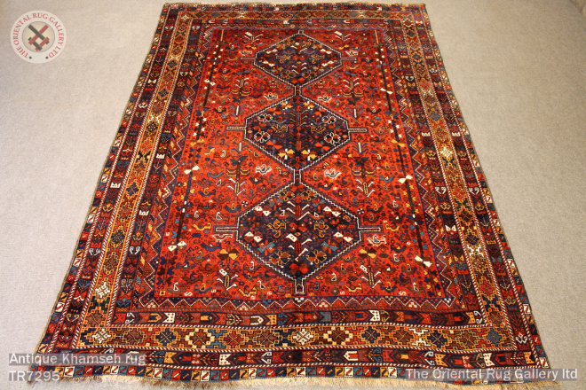 Antique Khamseh rug