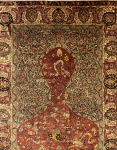 Antique Turkish silk rug