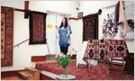 Sandre Blake Director of The Oriental Rug Gallery Ltd Talk on hand-weavings at Haslemere Festival.jpg