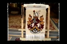 Anas-weaving-Heslemere-coat-of-arms.mkv